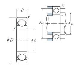 160 mm x 220 mm x 28 mm  NSK 6932 радиальные шарикоподшипники