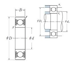 110 mm x 140 mm x 16 mm  NSK 6822VV радиальные шарикоподшипники