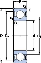 40 mm x 62 mm x 12 mm  SKF W 61908-2RZ радиальные шарикоподшипники
