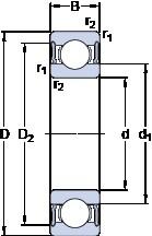 55 mm x 120 mm x 29 mm  SKF 6311-2RS1 радиальные шарикоподшипники