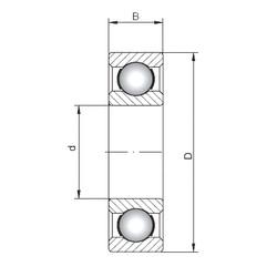 30 mm x 37 mm x 4 mm  ISO 61706 радиальные шарикоподшипники