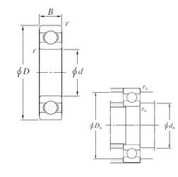 360 mm x 480 mm x 56 mm  KOYO 6972 радиальные шарикоподшипники