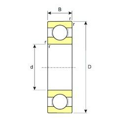 15 mm x 42 mm x 13 mm  ISB 6302 радиальные шарикоподшипники