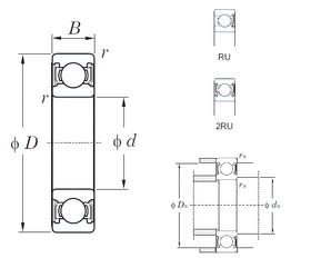 55 mm x 100 mm x 21 mm  KOYO 6211-2RU радиальные шарикоподшипники