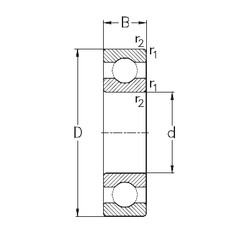 50 mm x 80 mm x 16 mm  NKE 6010 радиальные шарикоподшипники