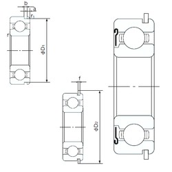 110 mm x 200 mm x 38 mm  NACHI 6222ZNR радиальные шарикоподшипники