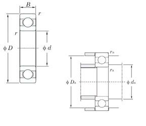 70 mm x 125 mm x 24 mm  KOYO 6214 радиальные шарикоподшипники