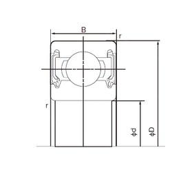 90 mm x 190 mm x 43 mm  NACHI 6318-2NK радиальные шарикоподшипники