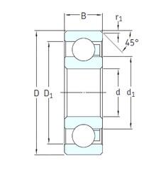 40 mm x 68 mm x 9 mm  SKF 16008/HR22T2 радиальные шарикоподшипники