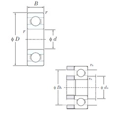 5 mm x 8 mm x 2 mm  KOYO ML5008 радиальные шарикоподшипники