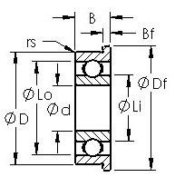 AST F603H радиальные шарикоподшипники
