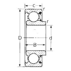 17 mm x 47 mm x 16 mm  CYSD 8603 радиальные шарикоподшипники
