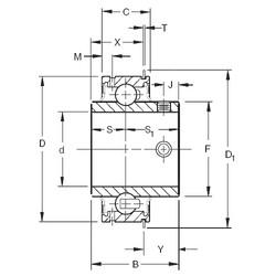 12,7 mm x 47 mm x 30,96 mm  Timken ER08 радиальные шарикоподшипники