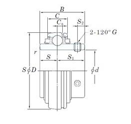80 mm x 150 mm x 85,7 mm  KOYO UCX16L3 радиальные шарикоподшипники
