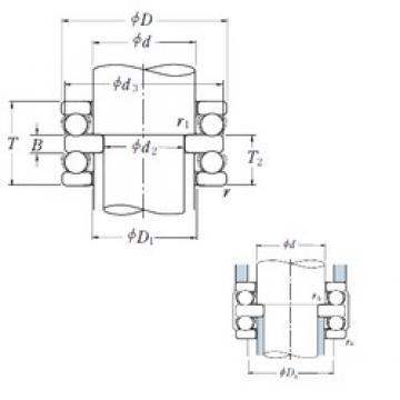 70 mm x 105 mm x 10 mm  NSK 52214 упорные шарикоподшипники