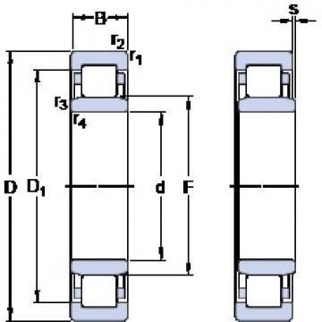 65 mm x 140 mm x 33 mm  SKF NU 313 ECML упорные шарикоподшипники