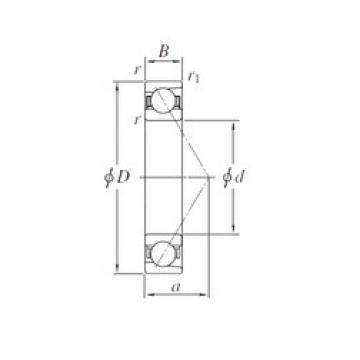 180 mm x 320 mm x 52 mm  KOYO 7236 радиально-упорные шарикоподшипники