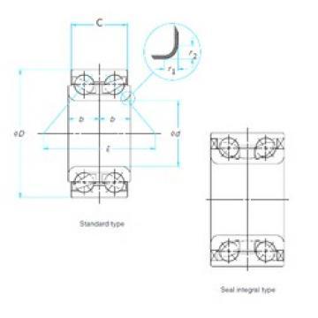 35 mm x 65 mm x 35 mm  SNR GB12438S01 радиально-упорные шарикоподшипники