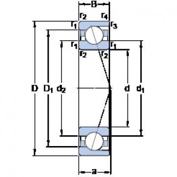 140 mm x 250 mm x 42 mm  SKF 7228 ACD/HCP4A радиально-упорные шарикоподшипники