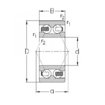 35 mm x 80 mm x 34,9 mm  NKE 3307-B-TV радиально-упорные шарикоподшипники
