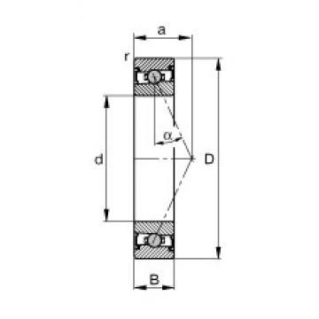 70 mm x 110 mm x 20 mm  FAG HCS7014-E-T-P4S радиально-упорные шарикоподшипники