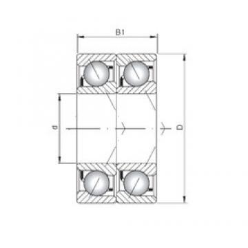 ISO 7064 ADT радиально-упорные шарикоподшипники