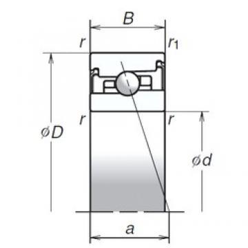95 mm x 145 mm x 30 mm  NSK 95BER20XV1V радиально-упорные шарикоподшипники
