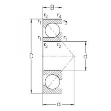 25 mm x 62 mm x 17 mm  NKE 7305-BECB-TVP радиально-упорные шарикоподшипники