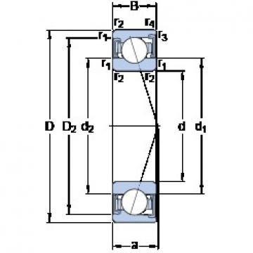 30 mm x 47 mm x 9 mm  SKF S71906 ACD/P4A радиально-упорные шарикоподшипники