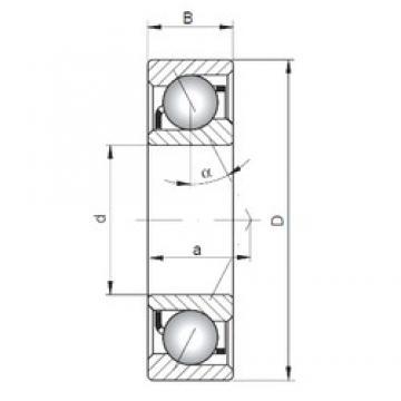 45 mm x 100 mm x 25 mm  ISO 7309 B радиально-упорные шарикоподшипники