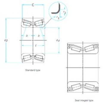 27 mm x 53 mm x 43 mm  SNR FC40650S01 конические роликовые подшипники