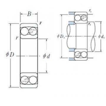 40 mm x 80 mm x 18 mm  NSK 1208 самоустанавливающиеся шарикоподшипники