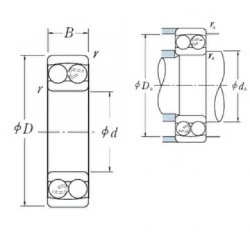 95 mm x 200 mm x 45 mm  NSK 1319 самоустанавливающиеся шарикоподшипники