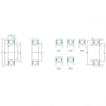 10 mm x 35 mm x 11 mm  SKF 6300-2RSH радиальные шарикоподшипники