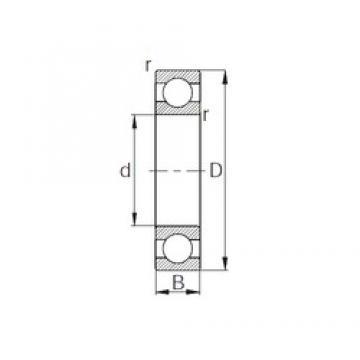 45 mm x 100 mm x 25 mm  KBC 6309 радиальные шарикоподшипники