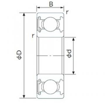 25 mm x 47 mm x 12 mm  CYSD 6005-RS радиальные шарикоподшипники