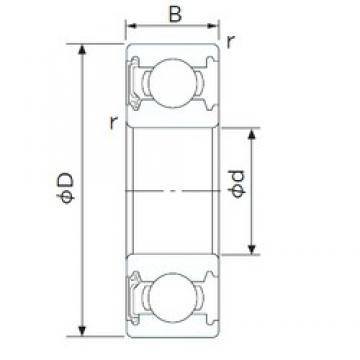 28,575 mm x 53,975 mm x 12,7 mm  CYSD R18-RS радиальные шарикоподшипники