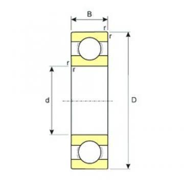 80 mm x 125 mm x 14 mm  ISB 16016 радиальные шарикоподшипники