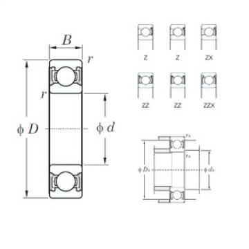35 mm x 62 mm x 14 mm  KOYO 6007Z радиальные шарикоподшипники