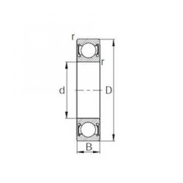 30 mm x 62 mm x 23,8 mm  CYSD W6206-2RS радиальные шарикоподшипники