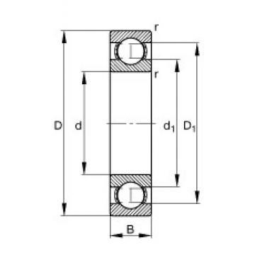 150 mm x 270 mm x 45 mm  FAG 6230 радиальные шарикоподшипники