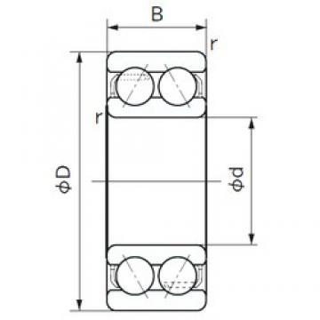 50 mm x 90 mm x 30.2 mm  NACHI 5210A радиально-упорные шарикоподшипники