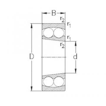 95 mm x 170 mm x 43 mm  NKE 2219-K самоустанавливающиеся шарикоподшипники