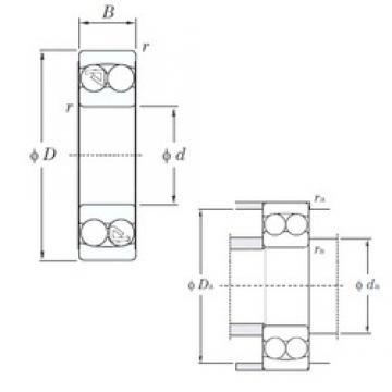 25 mm x 62 mm x 24 mm  KOYO 2305 самоустанавливающиеся шарикоподшипники