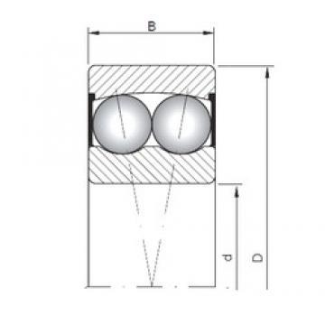 30 mm x 72 mm x 27 mm  ISO 2306-2RS самоустанавливающиеся шарикоподшипники