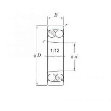 40 mm x 80 mm x 18 mm  KOYO 1208K самоустанавливающиеся шарикоподшипники