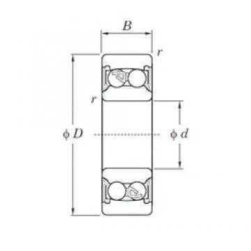 75 mm x 160 mm x 55 mm  KOYO 2315-2RS самоустанавливающиеся шарикоподшипники
