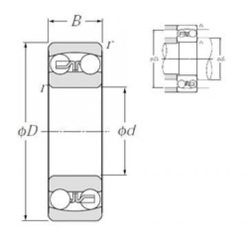 30 mm x 72 mm x 19 mm  NTN 1306S самоустанавливающиеся шарикоподшипники