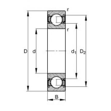 12 mm x 32 mm x 10 mm  FAG 6201-2RSR радиальные шарикоподшипники