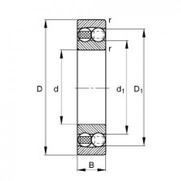 85 mm x 150 mm x 36 mm  FAG 2217-M самоустанавливающиеся шарикоподшипники
